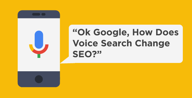 does voice search change seo